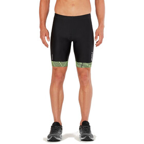 "2XU Perform 9"" Tri Shorts Men black/geo neo green"